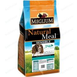 Meglium Сухой корм для взрослых собак с чувствительным пищеварением Sensible Fish&Rice рыба с рисом