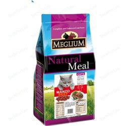Meglium Сухой корм с говядиной для взрослых кошек