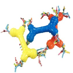 4 My Pets Игрушка для собак Кость резиновая с канатиками