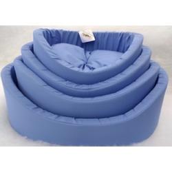 Бобровый дворик Лежак с бортиком Синий однотонный