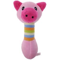 Антицарапки Игрушка для собак Гантелька Свинка плюшевая
