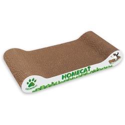 Homecat Когтеточка - лежанка из картона Мятная волна