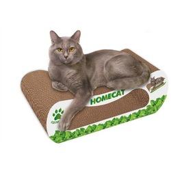 Homecat Когтеточка - лежанка Мятная волна из гофрокартона