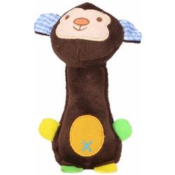 Антицарапки Мягкая игрушка-гантеля для собак Обезьянка с пищалкой