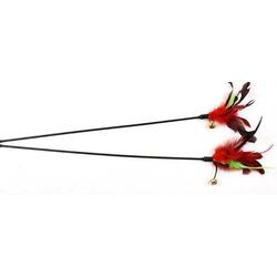 Антицарапки Игрушка для кошек Удочка с перьями и бубенчиком
