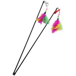 Smartpet Игрушка для кошек Дразнилка с бусинками и перьями на веревке