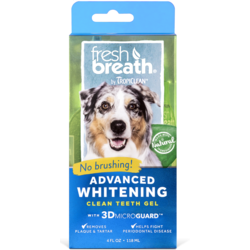 Tropiclean Отбеливающий гель для чистки зубов для собак Свежее дыхание