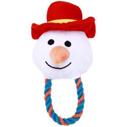 Smartpet Игрушка для щенков и мелких собак Снеговик с канатиком