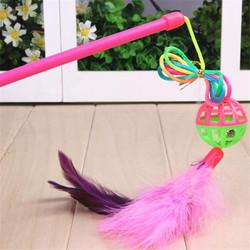 Smartpet Дразнилка для кошек с пластиковым шариком бубенчиком и перышками