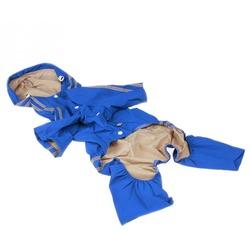 Smartpet Дождевик для крупных собак унисекс с капюшоном синий