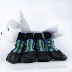 Smartpet Текстильные носки с латексным покрытием Сине-зеленые