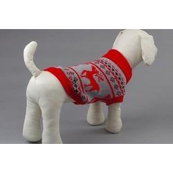 Smartpet Свитер для собак мелких пород Скандинавия красный