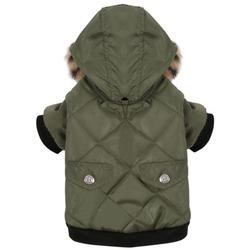4 My Pets Куртка для маленьких собак Зеленая с капюшоном