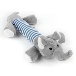 Антицарапки Игрушка для собак Слон-гантелька плюшевый с пищалкой