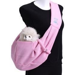 Smartpet Слинг для собак двухсторонний из мягкой ткани Розовый/Коричневый горох