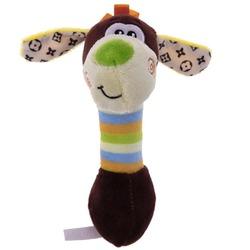 Антицарапки Игрушка для собак Обезьянка-гантелька плюшевая с пищалкой