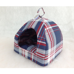 Бобровый дворик Домик для собак и кошек Шотландка синяя