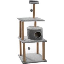 Smartpet Домик когтеточка для кошек Круглый Серый с игрушкой и лежанкой