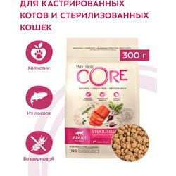 Сухой корм Wellness CORE Grain Free Sterilised из лосося для стерилизованных кошек и кастрированных котов