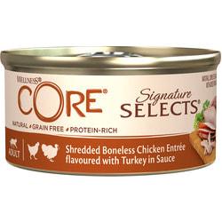 Wellness CORE SIGNATURE SELECTS консервы из курицы с индейкой в виде фарша в соусе для кошек