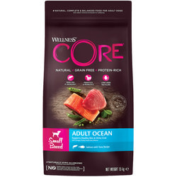 Сухой корм Wellness CORE Grain Free Adult Ocean Small из лосося с тунцом для взрослых собак мелких пород