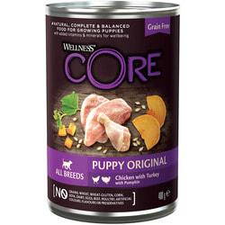 Wellness CORE 95 консервы из курицы с индейкой и тыквой для щенков