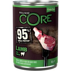 Wellness CORE 95 консервы из ягненка с тыквой для взрослых собак