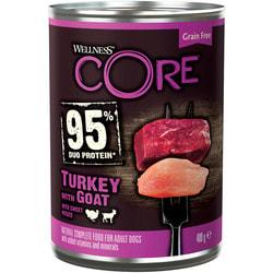 Wellness CORE 95 консервы из индейки с козлятиной и сладким картофелем для взрослых собак