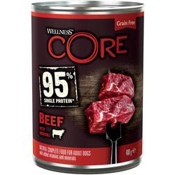 Wellness CORE 95 консервы из говядины с брокколи для взрослых собак
