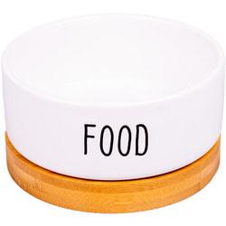 КерамикАрт Миска керамическая Food белая на подставке