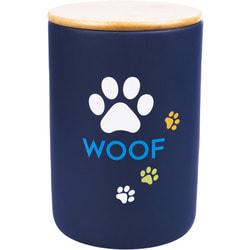 КерамикАрт Бокс керамический для хранения корма для собак Woof, черный