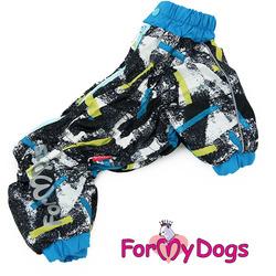 ForMyDogs Комбинезон для маленьких собак на флисе для мальчиков