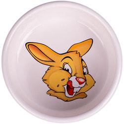КерамикАрт Миска для грызунов Кролик белая