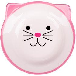 КерамикАрт Миска керамическая для кошек мордочка кошки 150мл