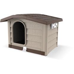 BAMA PET Будка для собак Bungalow пластик, бежевая