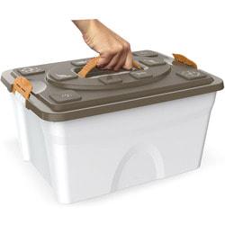 BAMA PET Контейнер для хранения корма Sim Pet 18л, бежевый