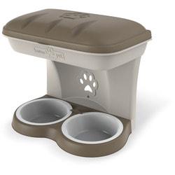 BAMA PET Миска для собак настенная двойная 1600 мл 48х27х42h см