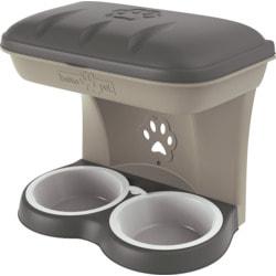 BAMA PET Миска для собак настенная двойная Maxi 2200 мл 50х29х52h см