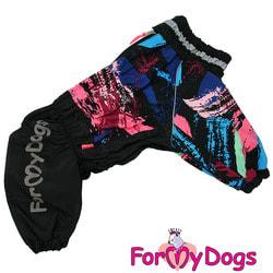 ForMyDogs Комбинезон для больших собак Черный на мальчика