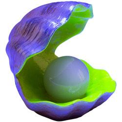 GloFish Раковина-жемчужница - декорация с GLO-эффектом