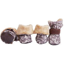 OSSO Ботиночки-носочки для мелких собак на меху, подошва кожзам