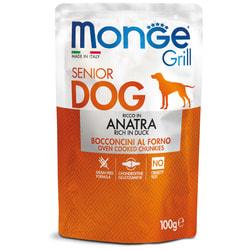 Monge Dog Grill SENIOR Pouch паучи для пожилых собак утка