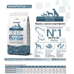 Monge Dog Monoprotein корм для собак всех пород форель с рисом и картофелем