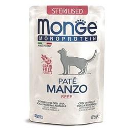 Monge Cat Monoprotein Pouch паучи для стерилизованных кошек говядина
