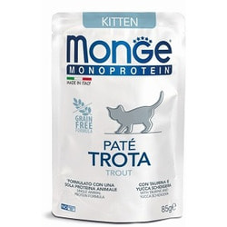 Monge Cat Monoprotein Pouch паучи для котят форель