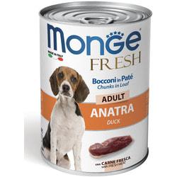 Monge Dog Fresh Chunks in Loaf консервы для собак мясной рулет из утки