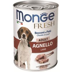 Monge Dog Fresh Chunks in Loaf консервы для собак мясной рулет из ягненка