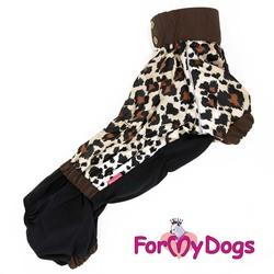 ForMyDogs Дождевик для таксы Леопард на девочку