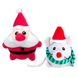 Kong Holiday игрушка для кошек Приятели, с кошачьей мятой, мышка или санта в ассортименте