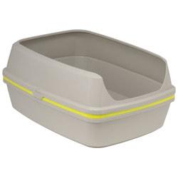 Moderna Туалет-лоток с бортом и решеткой Lift to Sift серо-лимонный